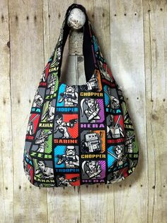 Hobo Tote Bag Star Wars Rebels Handmade READY by MicheleMadeThis