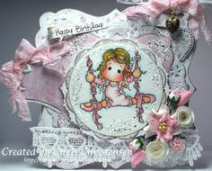 I finally had time to take photos! Here is one of the cards I've recently done. For more info, please visit http://ascrappersmusings.blogspot.com/2014/01/ribbon-dancer-tilda-birthday-card.html