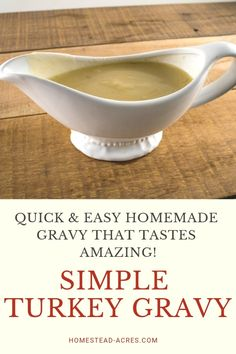 10 Most Misleading Foods That We Imagined Were Being Nutritious! You Will Love This Easy Turkey Gravy Recipe Its So Quick And Easy To Make So Dont Miss Out On Enjoying Homemade Turkey Gravy For Your Thanksgiving Or Christmas Dinner. Easy Homemade Gravy, Homemade Turkey Gravy, Easy Gravy Recipe, Easy Turkey Gravy, Turkey Brine, Yummy Chicken Recipes, Fun Easy Recipes, Turkey Recipes, Sauce Recipes