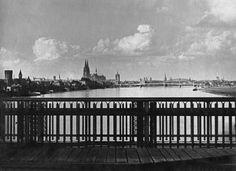 Köln, ca 1925, Blick von der Südbrücke nach Norden