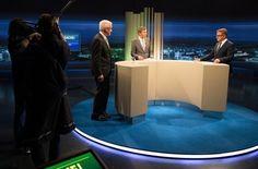 Wahlkampf in Stuttgart - Kretschmann und Wolf im TV Duell