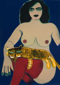 "amare-habeo: "" Corneille (Guillaume Cornelis van Beverloo) (Dutch, 1922 – Marguerita, 1979 Color litho on paper 70 x 50 cm "" Vincent Van Gogh, Modern Art, Contemporary Art, Cobra Art, Famous Art, Weird Art, Art For Art Sake, Pictures To Draw, Fernando Botero"