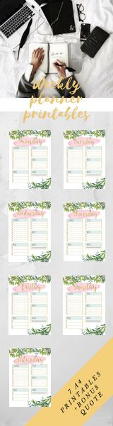 Printable Planner, Weekly Planner, Etsy, Organize, Girly, Boss, Office