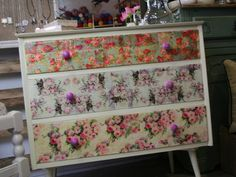 Decoupaged Dressing Table Different Styles by EllieMagpie on Etsy