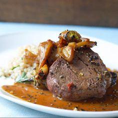 Chef Rocco DiSpirito - Pepper Steak Recipe - Delish.com