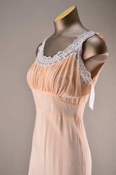 1940s night gown / Vintage lingerie / 40s old by melsvanity, $48.00