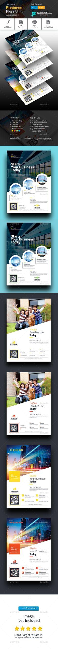 Corporate Flyer Template PSD #design Download: http://graphicriver.net/item/corporate-flyer/13652844?ref=ksioks