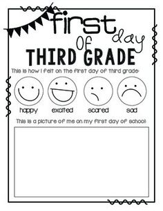 Printables First Day First Grade Worksheets pinterest the worlds catalog of ideas first day school third grade