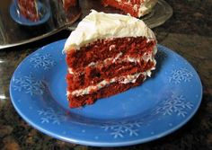 This is a classic Red Velvet Cake recipe, made with buttermilk and cocoa powder, and topped with cream cheese frosting.