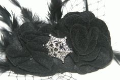 Spooky hair accessory or witch hat topper