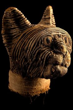 Mummified head of cat. Egyptian, Late Period to Ptolemaic, c. 664–430 BC Cats In Ancient Egypt, Ancient Egyptian Artifacts, Historical Artifacts, Ancient History, Art History, European History, Ancient Aliens, Ancient Greece, American History