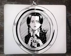 #270 Wednesday Addams by 365-DaysOfDoodles.deviantart.com on @deviantART