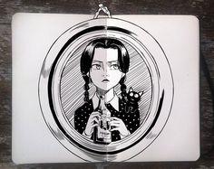 #270 Wednesday Addams by 365-DaysOfDoodles.deviantart.com on @deviantART