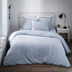 Blue Cassopia Printed Cotton Duvet Cover La Redoute Interieurs | La Redoute Mobile