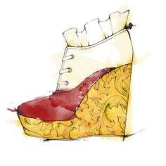 Diseño de zapato inspirado en Venecia.  Proyecto para la Escuela Express by Tempe