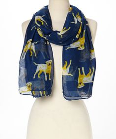 Look at this Blue Lab Scarf on #zulily today!