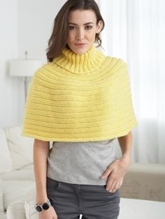 Just Enough Cape | Yarn | Knitting Patterns | Crochet Patterns | Yarnspirations