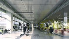 Pleasant House Gym Ideas for Creating Healthy Life : Gym Interior Design Ideas With Spacious Room