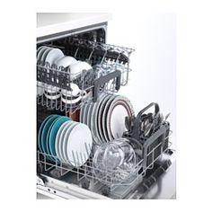 IKEA - SKINANDE, Integreret opvaskemaskine, Sparer både vand og energi, fordi du kan vaske op til 13 kuverter samtidig og kun bruger 9,9 liter vand - alt bli