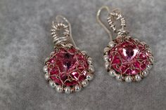 Pink Crystal Earrings by PiccolinaJewelry on Etsy, $26.00