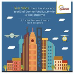 Sun Villas, there is natural eco blend of comfort and luxury with space and style.  GR Sunshine is ongoing Project In Sarjapur Road, Which is close Approximate to WIPRO Corporate Office. Which Come with 1,2,3 BHK Flats. To Know more (Or) Booking: Visit: http://grprojects.in/apartments/sunshine/ (Or) Call: +91 8880681616