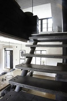 Stunning house located on the island of Gotland - Rustic Concrete Staircase
