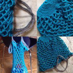 Ho creato una comodissima borsa della spesa con manici Crochet-Blue-Wool-Handmade-Creations-Colours