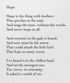 """Hope - Emily Dickinson This is the poem that inspired the Carnelian """"Hope"""" Necklace."""