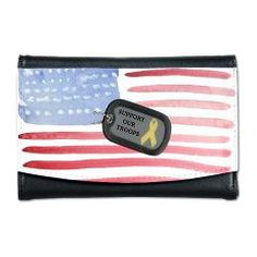 Support Our Troops Mini Wallet Support Our Troops The USA Way Bonfire Designs