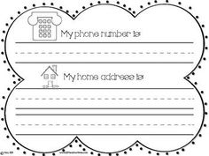 Line Plots Worksheets 5th Grade Phone Number And Address Practice Learn Your Address And  School  Long Vowels Worksheet with Worksheets For Counting Phone Number And Address Practice Number Writing Worksheets 1-10 Excel