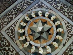 Marble floor inset attributed to Paolo Uccello (1425) San Marco, Venice