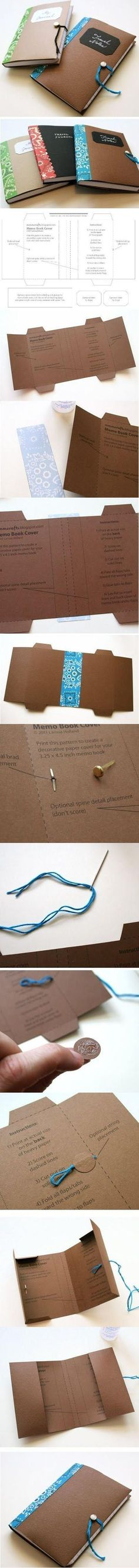 Free Printable Template For A Handmade/Decorated Journal, Dayplanner or Memo Book.- 可下載免費 自製書皮