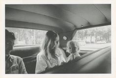 Serge Gainsbourg, Jane Birkin and her daughter Kate Barry