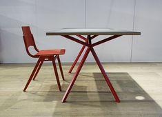 KT11 Office Line, Schreibtisch, office table Linoleum, chair: P7 by Roland Rainer