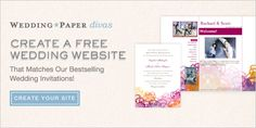 Make a free Wedding Website on Wedding Paper Divas. Pin it now and save this for when you need to make yours.