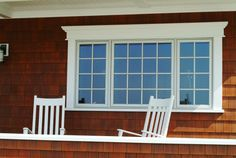 Exterior window trim for the brick house-this would be a big change.