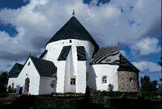 Old Church in Østerlars, Bornholm, Denmark