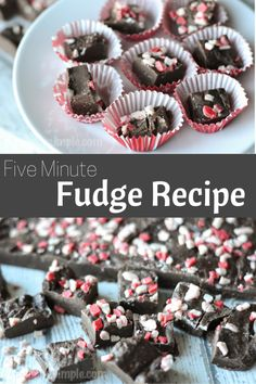 This five minute fudge recipe uses just four ingredients - a delicioustreat to make for holiday parties! Super simple to make- no baking required! #SweetenYourSeason #IC AD