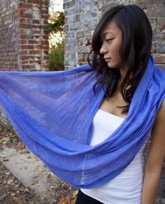 DIY Scarf, from gauze fabric, dye for color