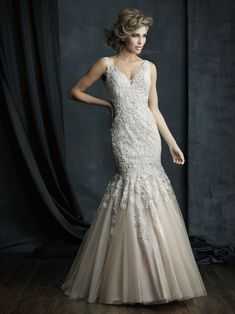Wedding Dresses, Bridesmaid Dresses, Prom Dresses and Bridal Dresses Allure Couture Wedding Dresses - Style - Allure Couture Wedding Dresses, Fall Channel the opulent glamour of the in this magnificent sleeveless gown. Fabric: Sparkle Tulle and Embroidery 2016 Wedding Dresses, Wedding Dress Styles, Bridal Dresses, Bridesmaid Dresses, Wedding Gowns, Lace Wedding, Allure Couture, Allure Bridals, Wedding Gown Gallery