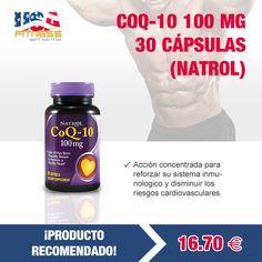 ¡¡PRODUCTO RECOMENDADO!!  Co Q10 actúa sobre las células del organismo, dándole energía a nuestro cuerpo y controlando al mismo tiempo la tensión arterial.  Co Q10 se indica para las alergias, asma, enfermedades respiratorias y los desórdenes auditivos, además de disminuir la presión arterial..   http://usafitness.es/es/vitaminas/1049-coq-10-100-mg-30-soffgels.html