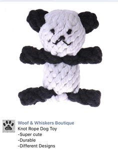 Dog or Cat Rope Toy from Woof & Whiskers Boutique