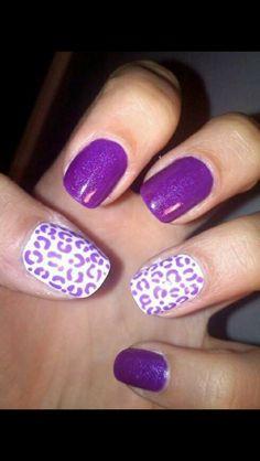 Purple sparkles white and cheetah