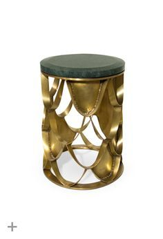 KOI | Modern Side Table by BRABBU  contemporary custom made casegoods, modern classic side table http://brabbu.com/casegoods/koi-side-table.php