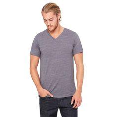 Bella + Canvas Unisex Asphalt Slub Jersey Short-Sleeve V-Neck T-Shirt