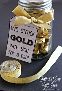 """We Struck Gold"" Father's Day Gift Idea with Free Printable Tags"