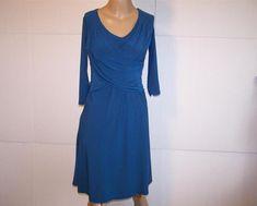 B-SLIM Dress PS Blue Slimming Stretch Ruched 3/4 Sleeves Womens Wear to Work #BSlim #Sheathslimming #WeartoWork
