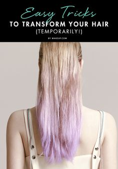 Is there a hairstyle or bold color you've been wanting to try but are too scared? Like a bob, or pink streaks? We'll show you how to try certain styles without going to the salon!