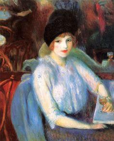William Glackens - 1914 Café Lafayette (Portrait of Kay Laurel)