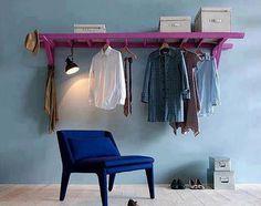 Best Ideas Clothes Hanger Ideas Hanging Racks Old Ladder Wardrobe Storage, Clothing Storage, Diy Clothing, Diy Projects Cans, Home Projects, Storage Hacks, Storage Solutions, Smart Storage, Ladder Storage